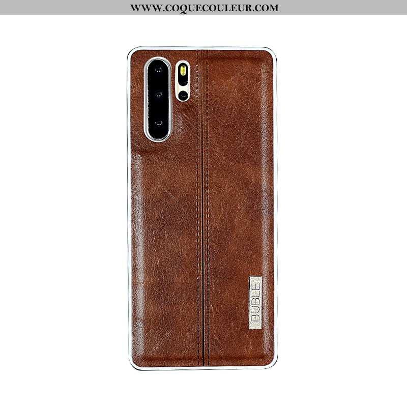 Coque Huawei P30 Pro Protection Tout Compris Business, Housse Huawei P30 Pro Cuir Véritable Tendance