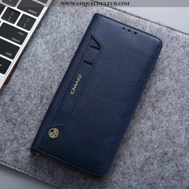 Étui Huawei P30 Pro Silicone Cuir Étui, Coque Huawei P30 Pro Protection Bleu Foncé