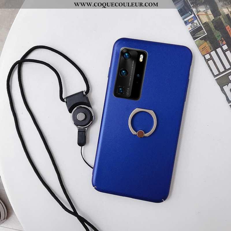 Coque Huawei P40 Délavé En Daim Support Téléphone Portable, Housse Huawei P40 Ornements Suspendus Pr