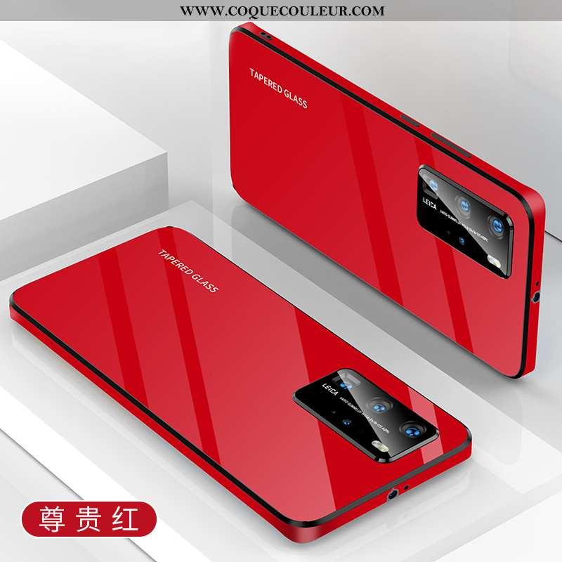 Housse Huawei P40 Silicone Rouge Tendance, Étui Huawei P40 Protection Tout Compris