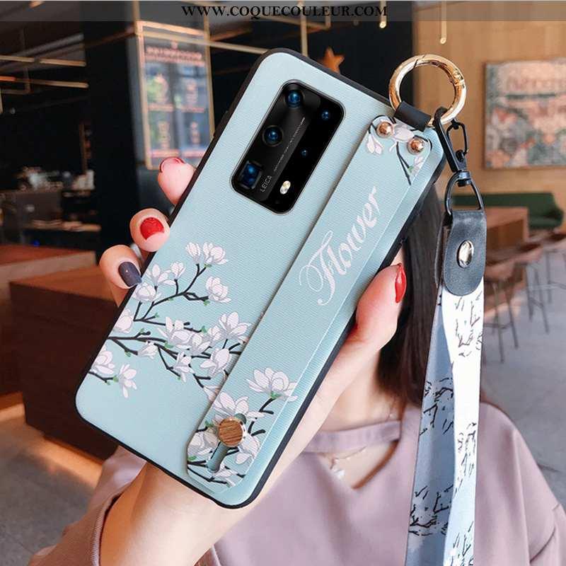 Coque Huawei P40 Créatif Personnalité Téléphone Portable, Housse Huawei P40 Tendance Incassable Bleu