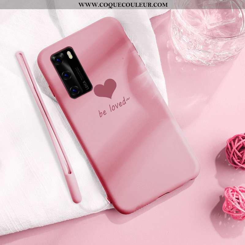Coque Huawei P40 Charmant Créatif Téléphone Portable, Housse Huawei P40 Ultra Protection Rose