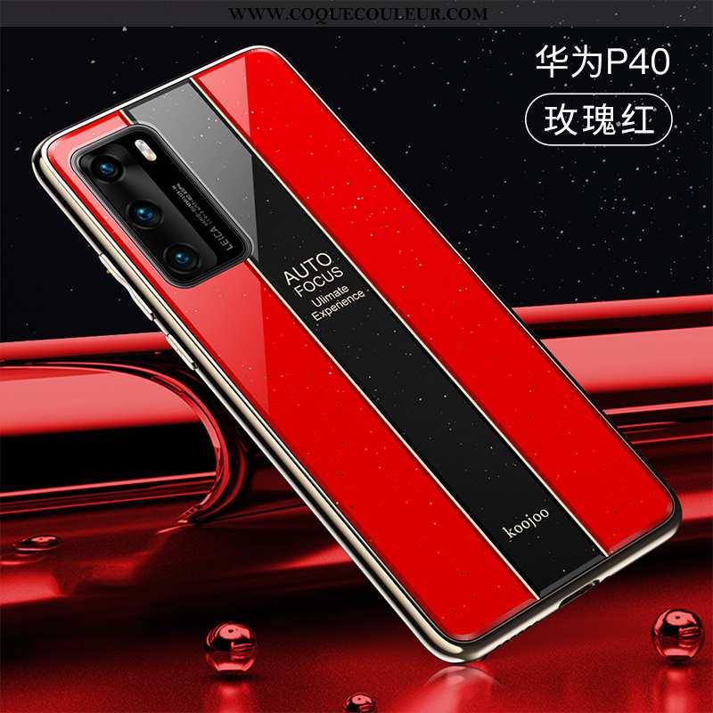 Étui Huawei P40 Légère Ultra Coque, Coque Huawei P40 Protection Rouge