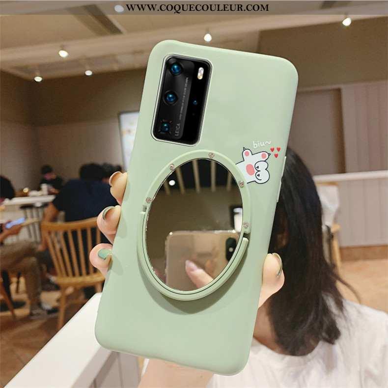 Étui Huawei P40 Silicone Dessin Animé Personnalité, Coque Huawei P40 Mode Téléphone Portable Verte