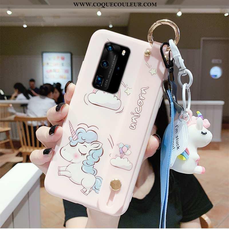 Coque Huawei P40 Personnalité Incassable Protection, Housse Huawei P40 Créatif Étui Rose