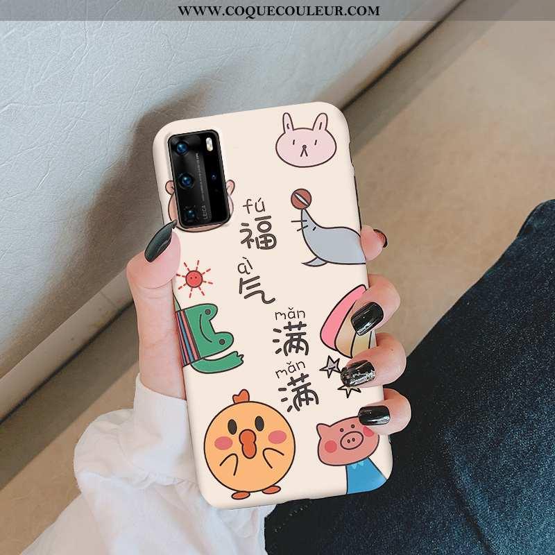 Étui Huawei P40 Dessin Animé Incassable Amoureux, Coque Huawei P40 Protection Téléphone Portable Bei