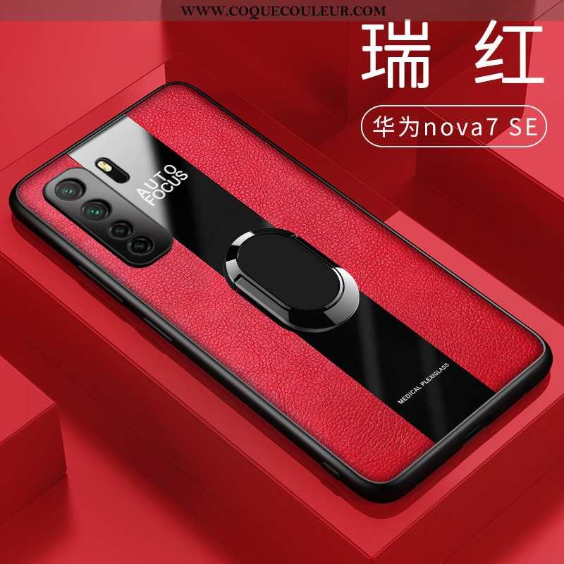 Coque Huawei P40 Lite 5g Légère Tout Compris Étui, Housse Huawei P40 Lite 5g Cuir Protection Rouge
