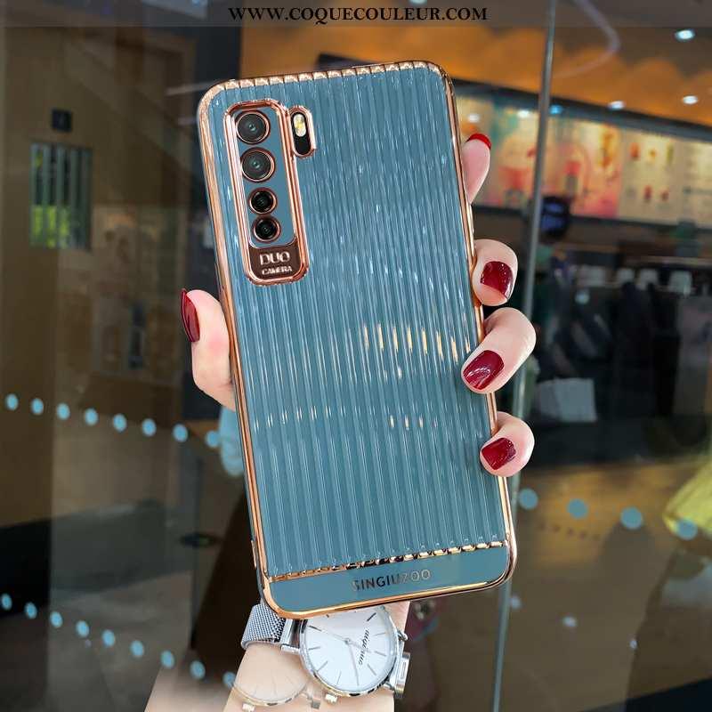 Étui Huawei P40 Lite 5g Tendance Net Rouge Bleu, Coque Huawei P40 Lite 5g Fluide Doux Simple Bleu