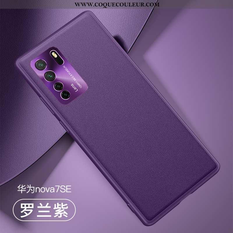 Étui Huawei P40 Lite 5g Protection Mode Fluide Doux, Coque Huawei P40 Lite 5g Métal Violet