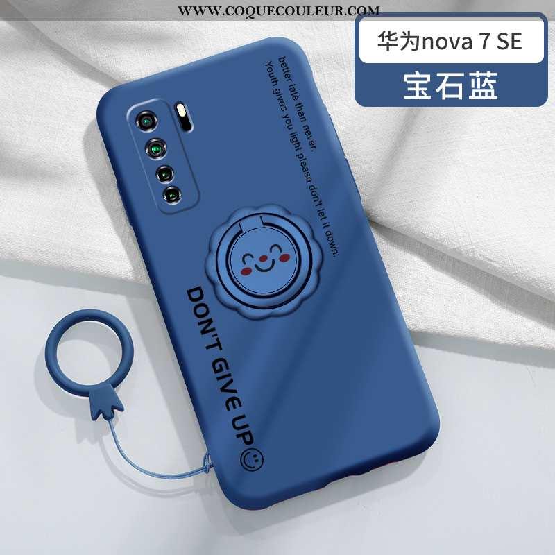 Coque Huawei P40 Lite 5g Créatif Légère Anneau, Housse Huawei P40 Lite 5g Ultra Tendance Bleu