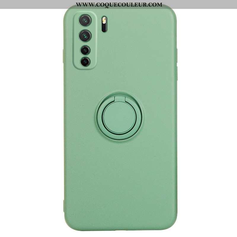 Housse Huawei P40 Lite 5g Fluide Doux Téléphone Portable Vert, Étui Huawei P40 Lite 5g Silicone Vert