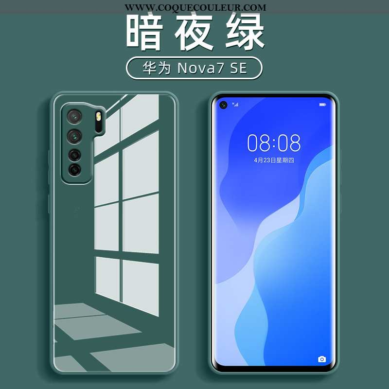 Étui Huawei P40 Lite 5g Verre Tendance, Coque Huawei P40 Lite 5g Ultra Tout Compris Verte