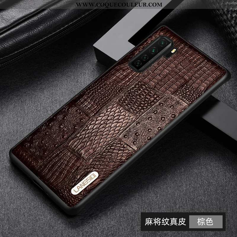 Étui Huawei P40 Lite 5g Cuir Véritable Téléphone Portable Tout Compris, Coque Huawei P40 Lite 5g Cui