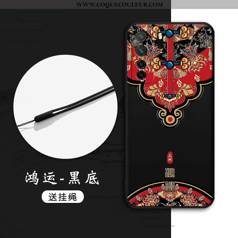 Étui Huawei P40 Lite 5g Protection Style Chinois Étui, Coque Huawei P40 Lite 5g Gaufrage Tout Compri