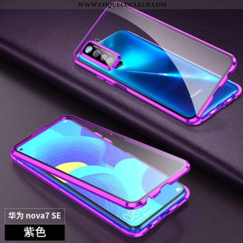 Étui Huawei P40 Lite 5g Verre Magnétisme Tout Compris, Coque Huawei P40 Lite 5g Protection Incassabl