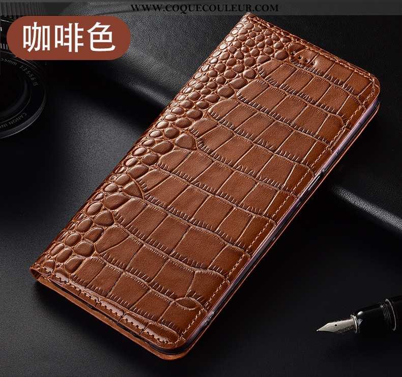 Housse Huawei P40 Lite E Cuir Véritable Tout Compris Étui, Étui Huawei P40 Lite E Modèle Fleurie Mar