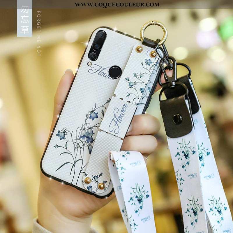 Étui Huawei P40 Lite E Silicone Tout Compris Étui, Coque Huawei P40 Lite E Mode Blanc Blanche