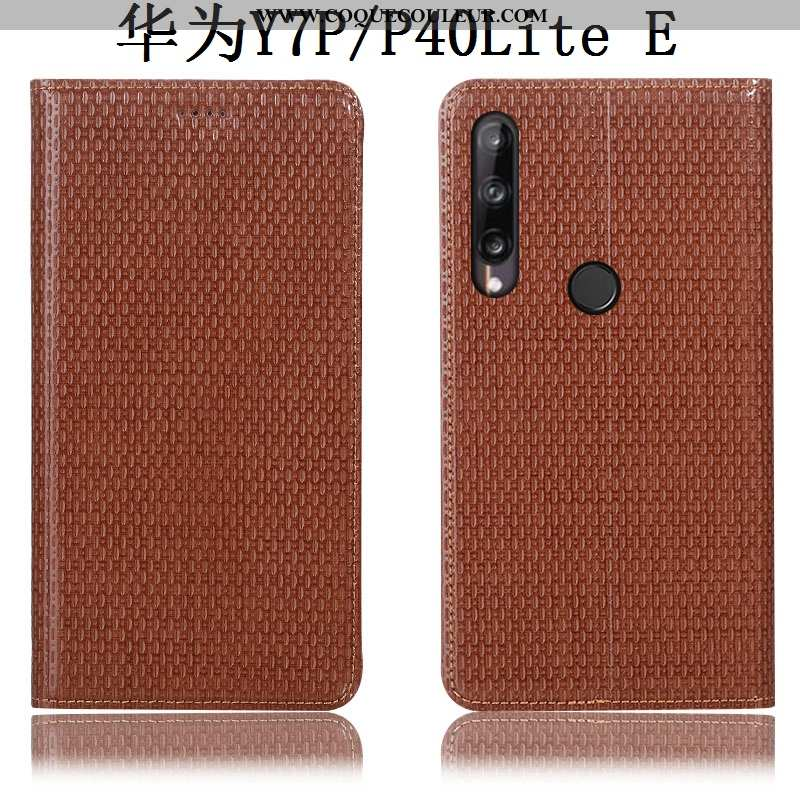 Coque Huawei P40 Lite E Cuir Véritable Protection Téléphone Portable, Housse Huawei P40 Lite E Modèl