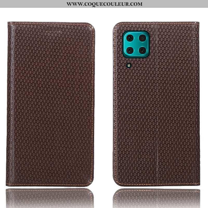 Housse Huawei P40 Lite Protection Modèle Fleurie Étui, Étui Huawei P40 Lite Cuir Véritable Téléphone