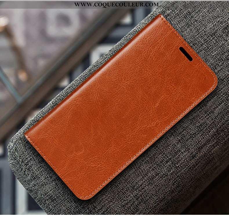 Étui Huawei P40 Lite Cuir Coque Business, Huawei P40 Lite Protection Couleur Unie Marron