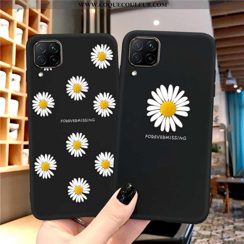 Housse Huawei P40 Lite Silicone Coque Étui, Étui Huawei P40 Lite Protection Tout Compris Noir