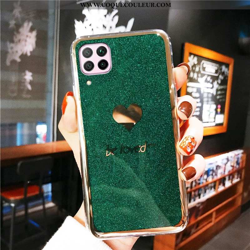Coque Huawei P40 Lite Tendance Placage Anneau, Housse Huawei P40 Lite Protection Incruster Strass Ve