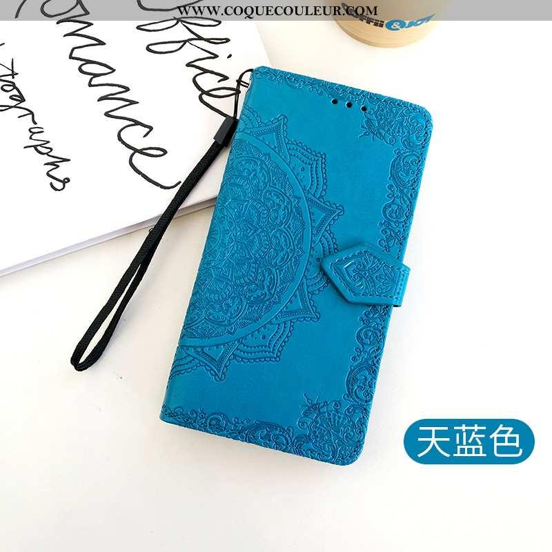 Housse Huawei P40 Lite Cuir Coque Bleu Marin, Étui Huawei P40 Lite Fluide Doux Téléphone Portable Bl