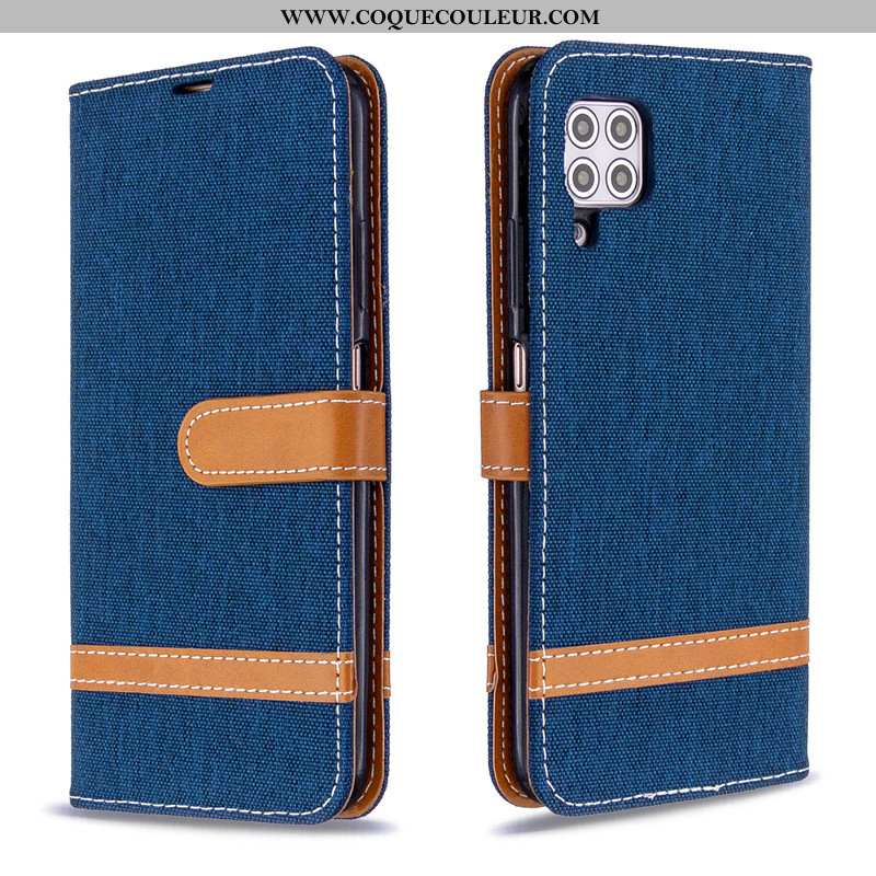 Étui Huawei P40 Lite Portefeuille Téléphone Portable Housse, Coque Huawei P40 Lite Cuir Bleu Foncé
