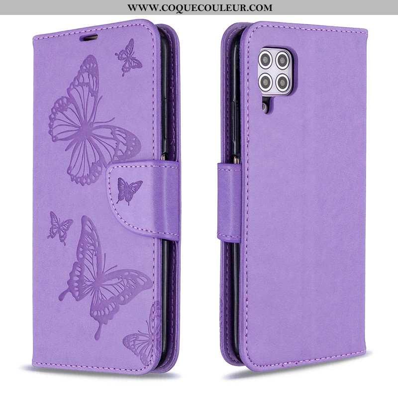 Étui Huawei P40 Lite Cuir Téléphone Portable Coque, Coque Huawei P40 Lite Protection Violet