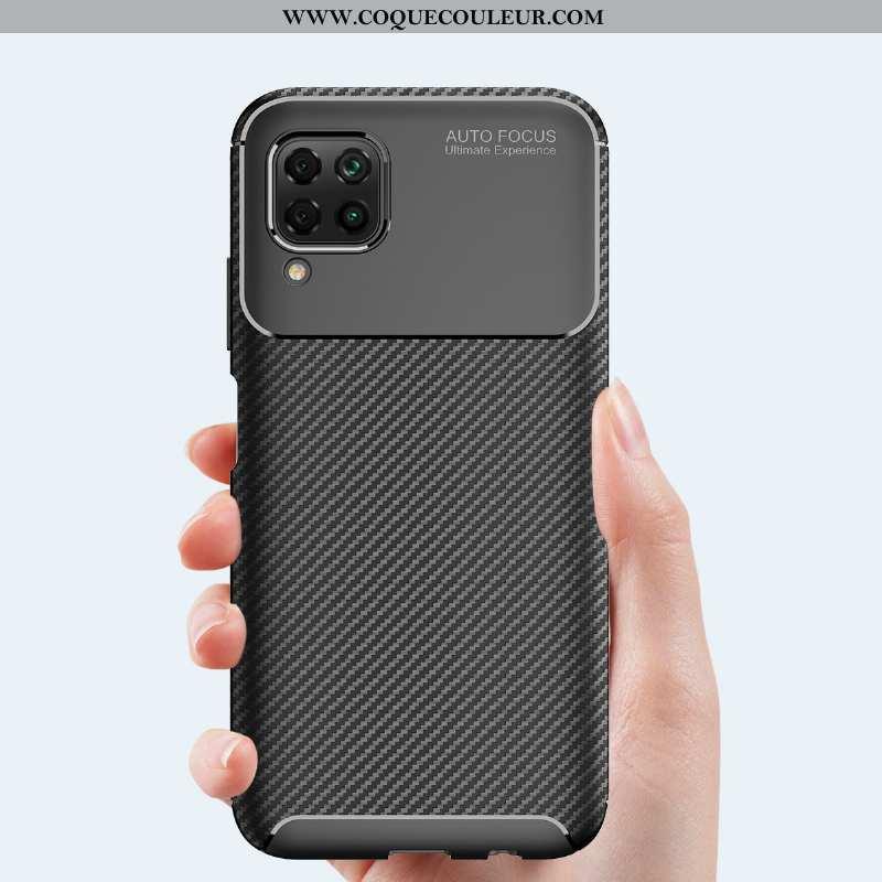 Étui Huawei P40 Lite Silicone Coque Noir, Huawei P40 Lite Accessoires Noir