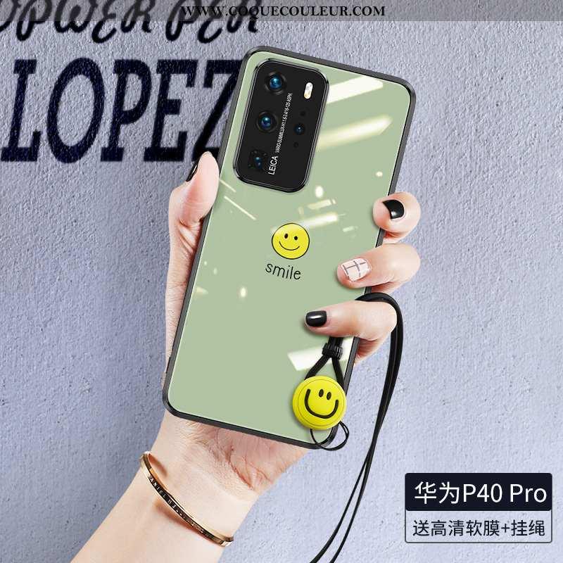 Coque Huawei P40 Pro Silicone Créatif Vert, Housse Huawei P40 Pro Protection Incassable Verte