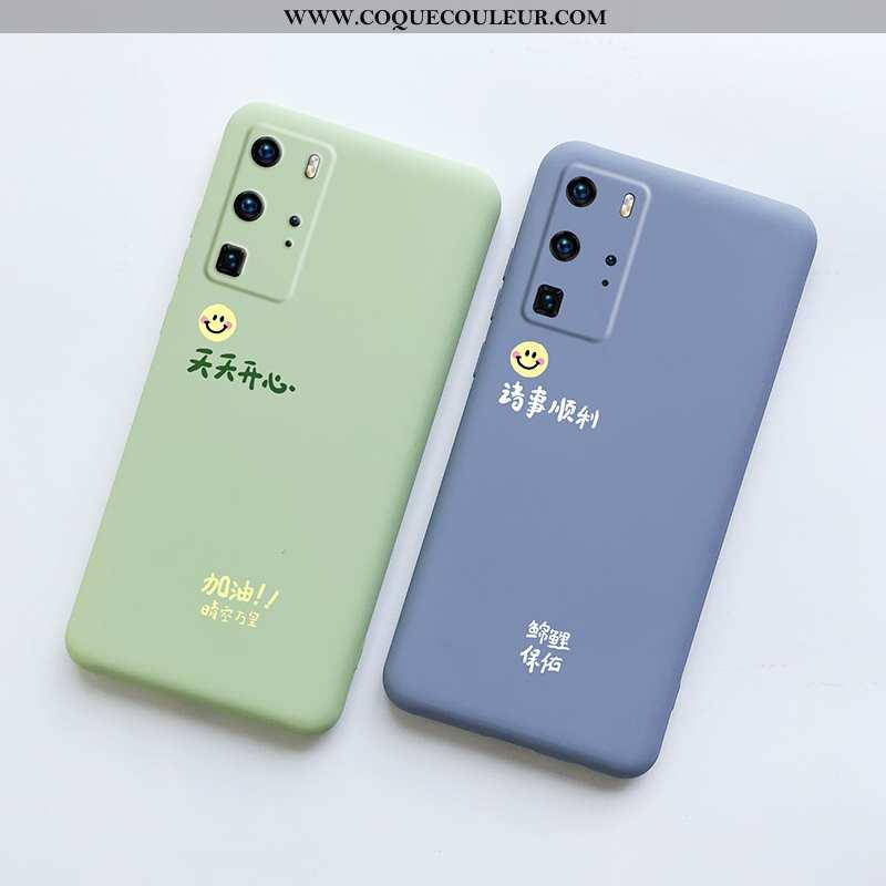 Housse Huawei P40 Pro Ultra Coque Téléphone Portable, Étui Huawei P40 Pro Tendance Protection Verte