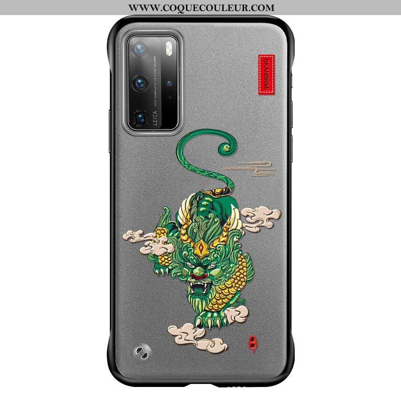 Étui Huawei P40 Pro Protection Tendance Incassable, Coque Huawei P40 Pro Transparent Ultra Gris