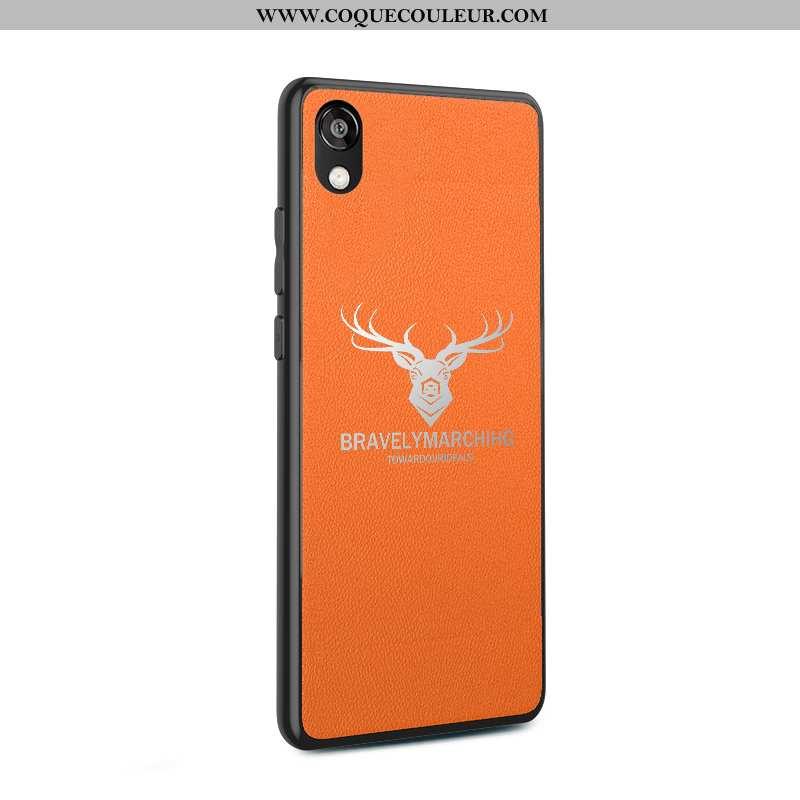 Étui Huawei Y5 2020 Personnalité Incassable Téléphone Portable, Coque Huawei Y5 2020 Créatif Orange