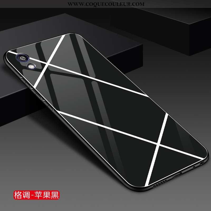 Étui Huawei Y5 2020 Verre Protection Étui, Coque Huawei Y5 2020 Personnalité 2020 Noir