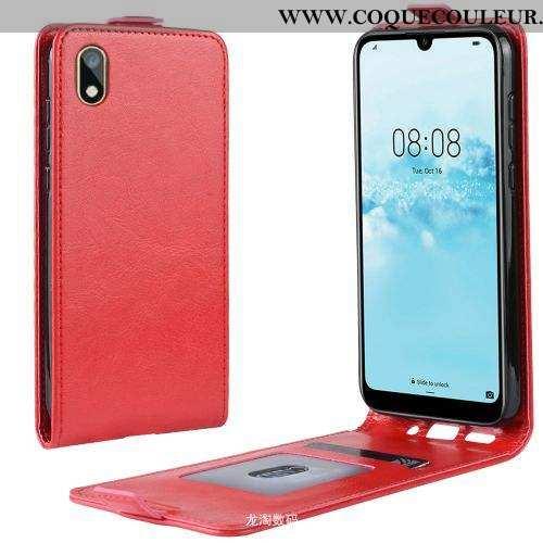 Coque Huawei Y5 2020 Cuir Étui Incassable, Housse Huawei Y5 2020 2020 Rouge