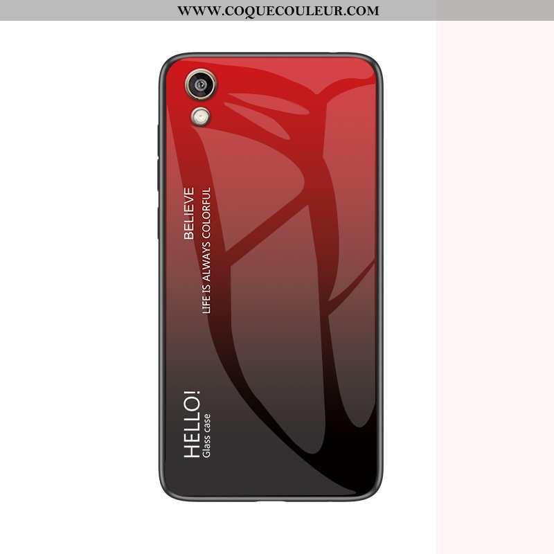 Coque Huawei Y5 2020 Protection Téléphone Portable, Housse Huawei Y5 2020 Verre Silicone Bordeaux