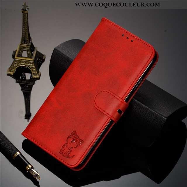Coque Huawei Y5 2020 Protection Étui Coque, Housse Huawei Y5 2020 Cuir Téléphone Portable Bordeaux