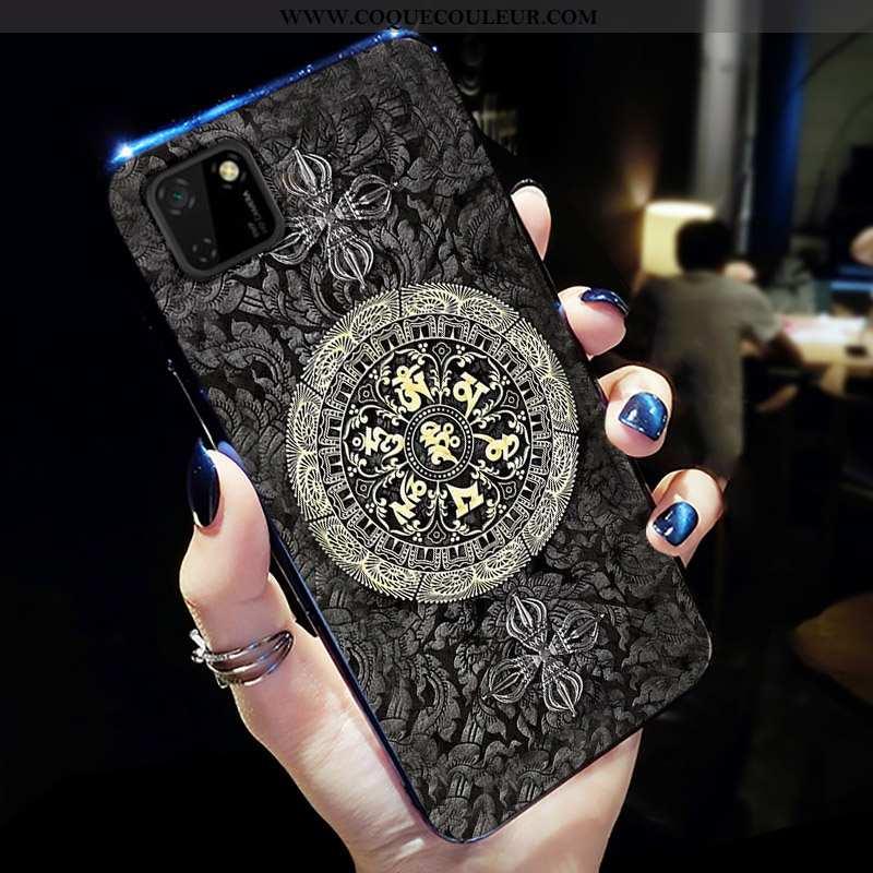 Housse Huawei Y5p Fluide Doux Noir Ultra, Étui Huawei Y5p Silicone Incassable