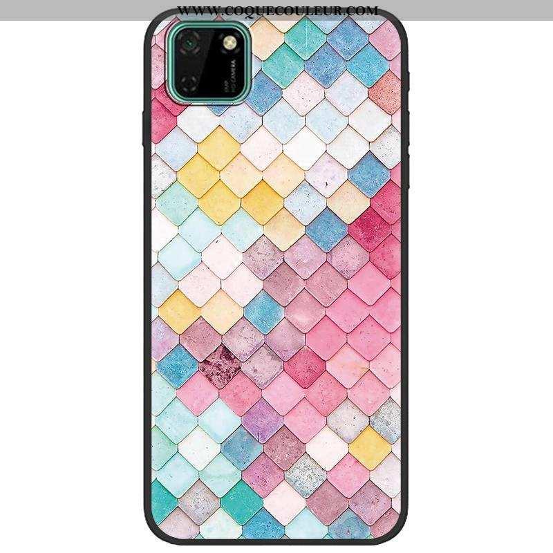 Étui Huawei Y5p Dessin Animé Téléphone Portable, Coque Huawei Y5p Fluide Doux Multicolore Coloré