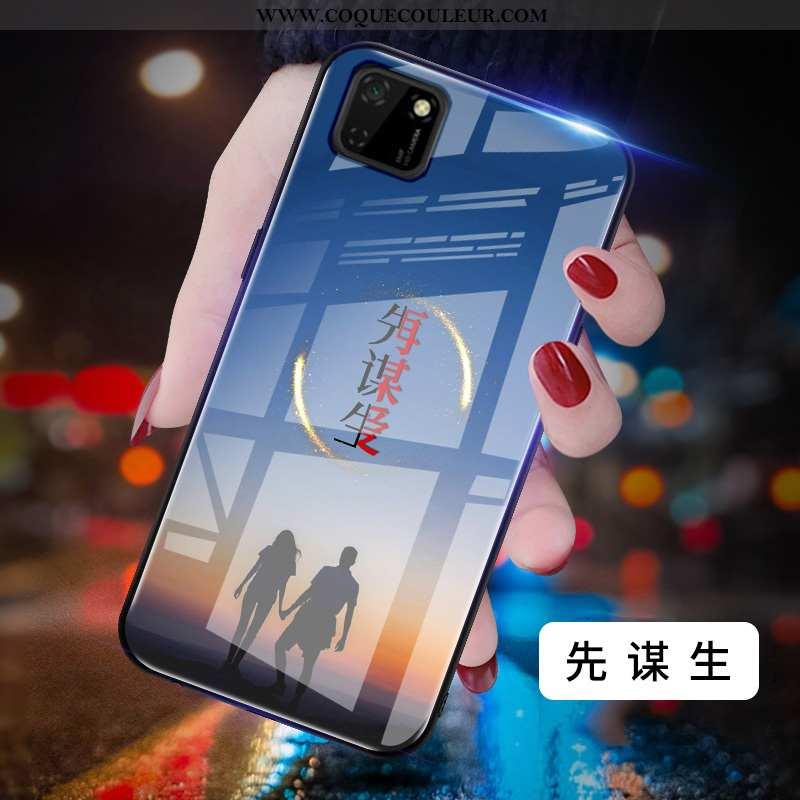 Coque Huawei Y5p Mode Personnalité Coque, Housse Huawei Y5p Protection Créatif Bleu