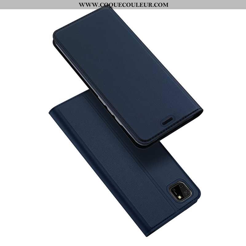 Coque Huawei Y5p Légère Ultra Clamshell, Housse Huawei Y5p Cuir Étui Bleu