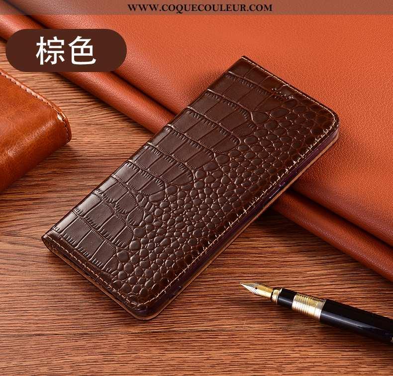 Coque Huawei Y5p Cuir Véritable Téléphone Portable, Housse Huawei Y5p Protection Tout Compris Marron
