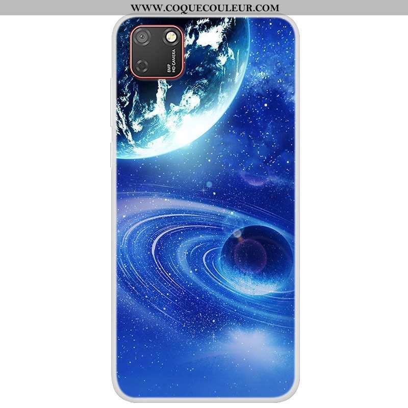 Coque Huawei Y5p Fluide Doux Peinture Coque, Housse Huawei Y5p Protection Tendance Bleu