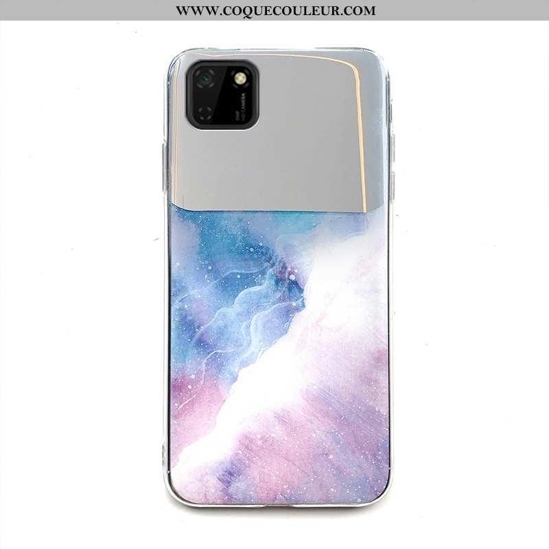 Étui Huawei Y5p Silicone Fluide Doux 2020, Coque Huawei Y5p Protection Multicolore Coloré