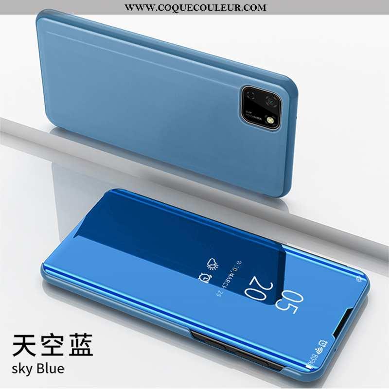 Housse Huawei Y5p Protection Étui Coque, Huawei Y5p Bleu Téléphone Portable