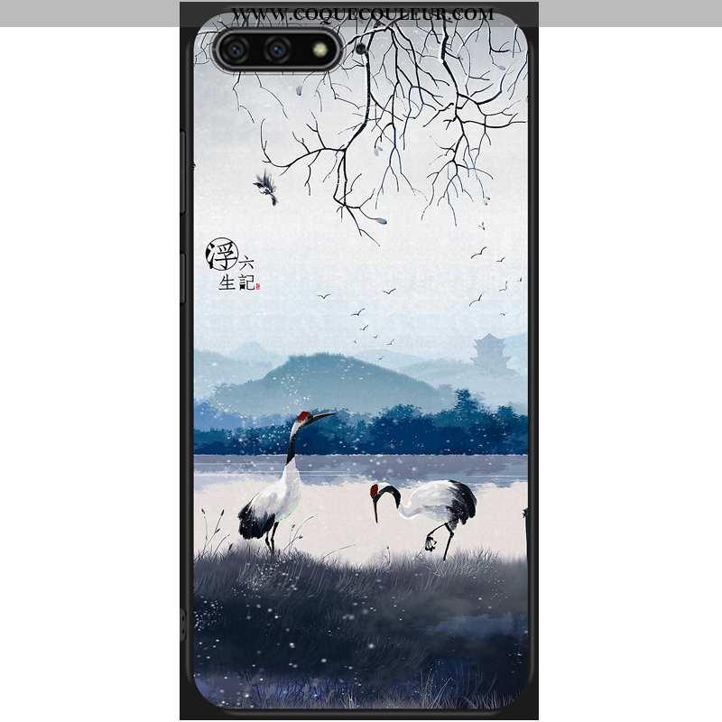 Coque Huawei Y6 2020 Protection 2020 Incassable, Housse Huawei Y6 2020 Ornements Suspendus Étui Bleu