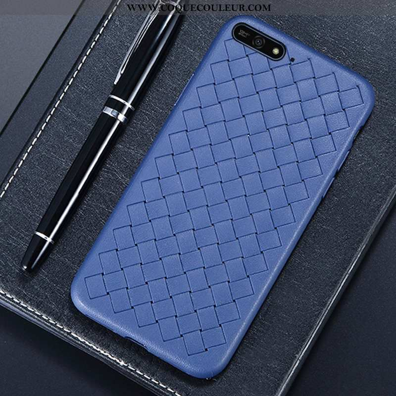 Étui Huawei Y6 2020 Créatif Coque Bleu Marin, Huawei Y6 2020 Modèle Fleurie Incassable Bleu Foncé