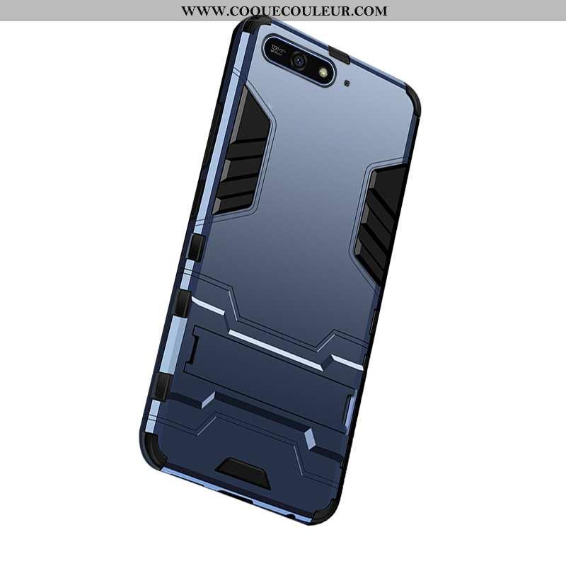 Housse Huawei Y6 2020 Protection Étui Armure, Huawei Y6 2020 2020 Téléphone Portable Bleu Foncé