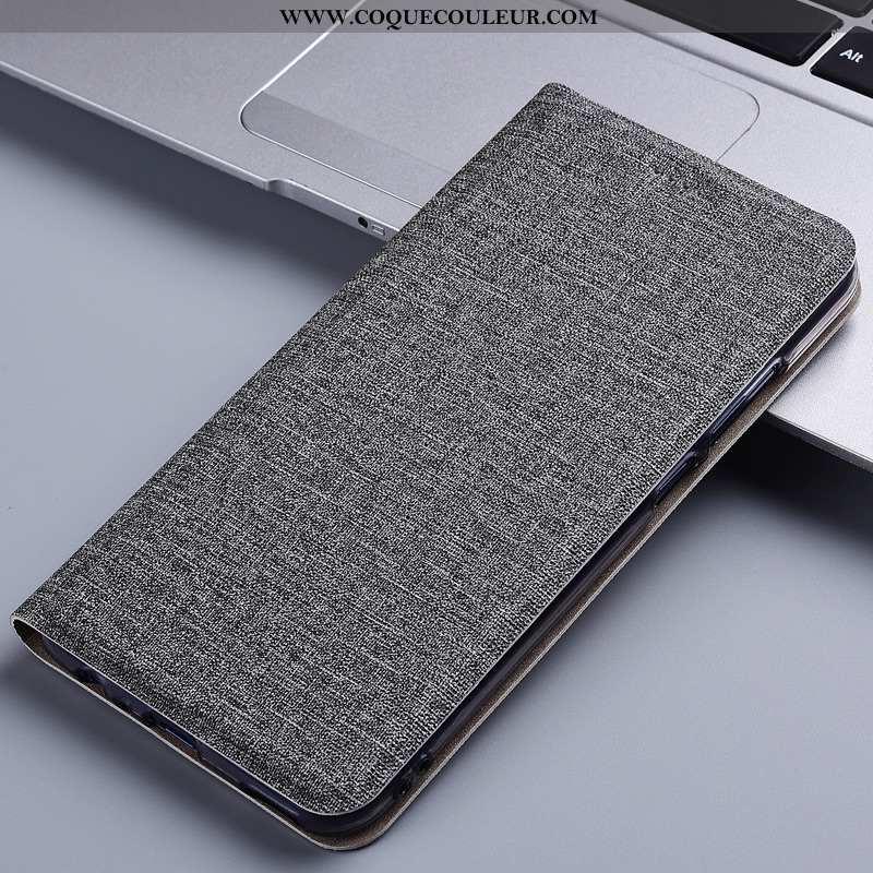 Coque Huawei Y6 2020 Protection 2020 Lin, Housse Huawei Y6 2020 Cuir Téléphone Portable Gris